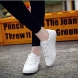 Cheaper Ocean New Women Fashion Sneakers Flat Breathable Pu Casual Shoes White Intl