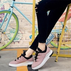 Where Can I Buy Ocean New Women Fashion Sneakers Han Edition Flat Lace Up Breathable Run Casual Shoes Pink Intl