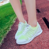 Latest Ocean New Women Sports Outdoors Sneakers Walking Shoes Breathable Net Surface Flat Bottomed Casual Shoes Fluorescent Green Intl
