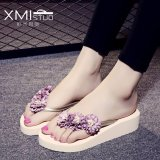 Price Comparisons Of Ocean New Women S Fashion Flip Flops Pu Little Daisy Flower Slippers Beige Intl