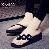 Sale Ocean New Women S Fashion Flip Flops Pu Little Daisy Flower Slippers Black Intl