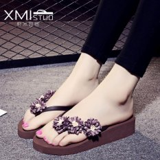 Store Ocean New Women S Fashion Flip Flops Pu Little Daisy Flower Slippers Coffee Intl Oem On China