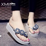 Discounted Ocean New Women S Fashion Flip Flops Pu Little Daisy Flower Slippers Grey Intl