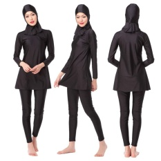 Ocean New Womens Fashion Muslim Swimwear 3 Pcs Conservative Swimming Suit(black) - Intl By Ocean Shopping Mall.