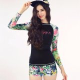 Price Ocean New Women S Long Sleeved Swimsuit With A Conservative Flat Print Wetsuit(Floral) Intl Oem