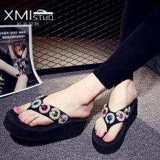 Discount Ocean New Women S Platform Sandals With Flip Flops Black Intl Oem On China