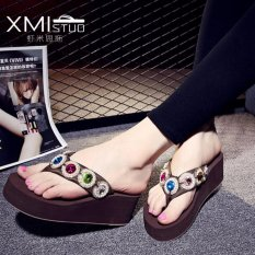 Buy Ocean New Women S Platform Sandals With Flip Flops Coffee Intl China