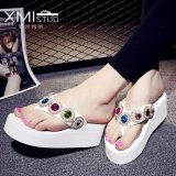 Compare Ocean New Women S Platform Sandals With Flip Flops White Intl Prices