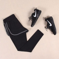 Purchase Ocean Sports Women Training Wear Comfortable Breathable Yoga Clothes Movement 2 Pieces Siamese Ankle Pants Black And Grey Intl Online