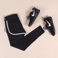 Cheapest Ocean Sports Women Training Wear Comfortable Breathable Yoga Clothes Movement 2 Pieces Siamese Ankle Pants Black And White Intl