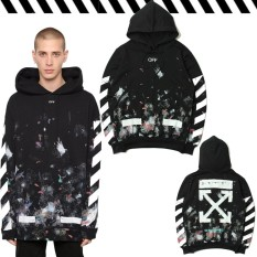 How To Get Off White Men Hoodies Men Clothing Hip Hop Stars Fireworks Arrows Hooded Sweater Men Women Coupleship Hop Jacket Intl