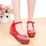 Compare Old Beijing Colorful Autumn New Shoes Red Red Prices