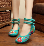 Sale Old Beijing Soft Bottom Plus Sized Shoes Embroidered Shoes Green Oem Branded