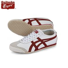 Sale Onitsuka Tiger Mexico66 White Burgundy D4J2L 0125 100 Authentic South Korea Cheap