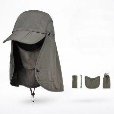 5d230a6e652a3 Outdoor Cycling Hiking Fishing 360 Degree UV Protection Sun block Hat  Foldable Cap Mesh Bucket Flap