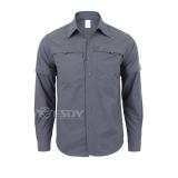 Discounted Outdoor Men Summer Thin Shirt Shirt Gray