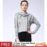 Buy Outdoor Running Sports Loose Half Zipper With Pocket Hooded Jacket Women Yoga Fitness Long Sleeve Outwear Tops Intl Cheap On China
