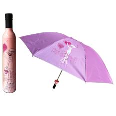 Outdoor Wine Bottle Sun Rain Folding Uv Umbrella Fashion Girl Boy 10 Pink By Sportschannel
