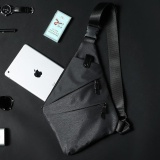 Oxford Crossbody Bags Shoulder Bag For Men Fashion Sling Bag Chest Pack Man Casual Travel Messenger Bag Grey 22X30X2 5Cm Intl Deal