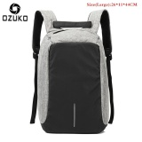 Discount Ozuko Waterproof Oxford Men S Business Backpack External Usb Charging 15 6Inch Laptop Backpack Multi Functional Casual Anti Theft Computer Travel Bag Sch**L Bag Large Grey Intl