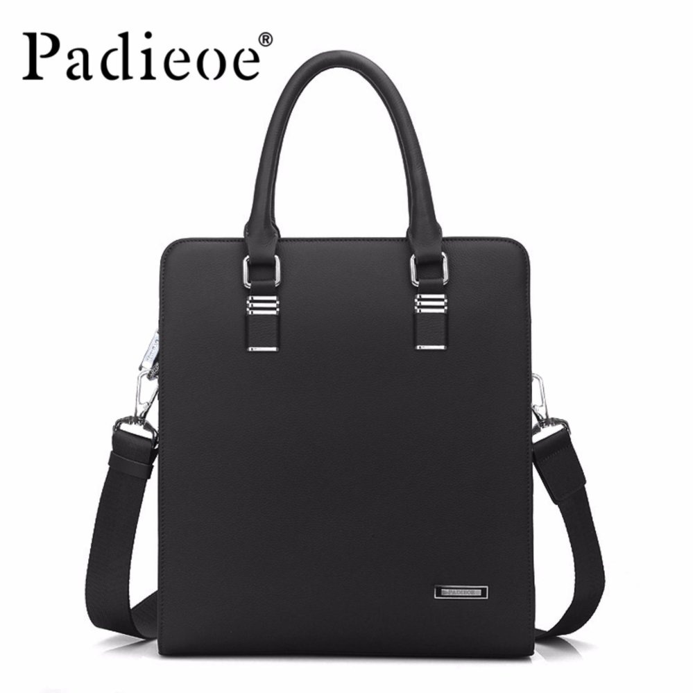 Padieoe 2017 New Designer Handbags Genuine Cow Leather Handbags Business Bag Men Shoulder Bag Office Bag Mens Business Bag Briefcase - intl