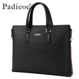 Sale Padieoe Fashion Men S Bag Business Men Briefcase Pu Leather High Capacity Laptop Bag Male Youth Bag Tote Handbags 14 9Inch Black Intl Padieoe Original