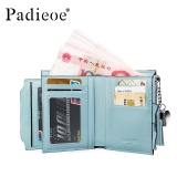 Padieoe Fashion Women Wallet Genuine Leather Coin Purse Tassel Zipper Hasp Ladies Card Holder Money Pocket Blue 5Inch Intl Padieoe Cheap On China