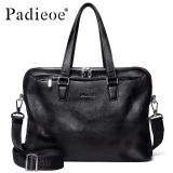 Price Comparisons Padieoe Hot Sales Man S Bag Men Briefcase Genuine Leather Business Briefcase Casual Men Tote Bags Shoulder Bags Black 15 4Inch Intl