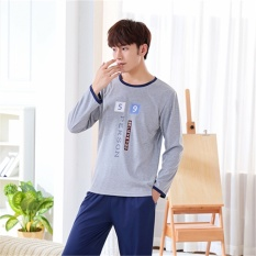 Who Sells Pajamas Long Sleeves Cotton Spring And Autumn Men S Pajamas Thin Home Clothing Suit Intl The Cheapest