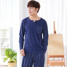 For Sale Pajamas Long Sleeves Cotton Spring And Autumn Men S Pajamas Thin Home Clothing Suit Intl
