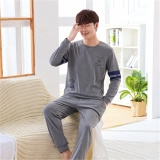 Deals For Pajamas Long Sleeves Cotton Spring And Autumn Men S Pajamas Thin Home Clothing Suit Intl