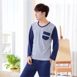 Review Pajamas Long Sleeves Cotton Spring And Autumn Men S Pajamas Thin Home Clothing Suit Intl Yaoting On China