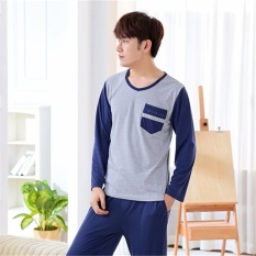 Price Pajamas Long Sleeves Cotton Spring And Autumn Men S Pajamas Thin Home Clothing Suit Intl Yaoting China