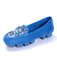 The Cheapest Palace Of Old Beijing Crystal A Foot Stare Shoes Cloth Shoes A102 Blue Online
