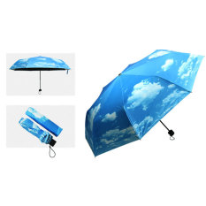 Palight Anti Uv Umbrellas Sun Protection Parasols Rain Blue Sky 3
