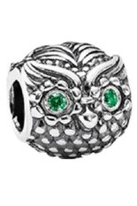 Sales Price Pandora Charm Wise Owl Cubic Zirconia Dark Green Export