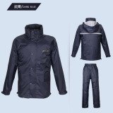 Buy Paradise Double Layer Thickened Electric Motorcycle Split Raincoat Dark Blue To Send Storage Bag Shoes Dark Blue To Send Storage Bag Shoes Online