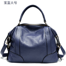 Brand New Paste New Style Super Wear Resistant Leather Bag First Layer Of Leather Women S Bag Sapphire Blue Large