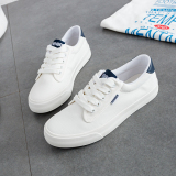 How To Buy Renben Versatile Female Flat Shoes Korean Style Canvas Shoes White