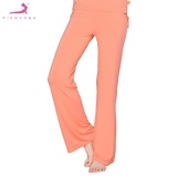 Compare Prices For Pieryoga 41868Mm Orange Yoga Comfortable Full Length Pants With Drawstring M Intl