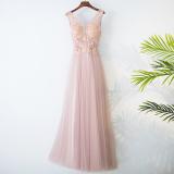 Discount Elegant Korean New Slim Fit Sheath Bridesmaid Dress Pink Evening Gown