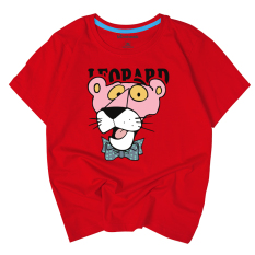 Discounted The Pink Panther Cotton Short Sleeved Half Day T Shirt