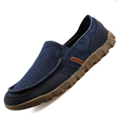 Discount Pinsv Canvas Men S Flats Shoes Casual Loafers Slip On Navy