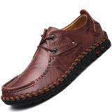 Pinsv Genuine Leather Men S Formal Shoes Business Casual Shoes Red Intl Promo Code