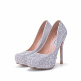 Sale Platform Bridals Shoes Pearl High Heels Pumps White Wedding Shoes Women Bridal Stilettoes S*xy Heels Intl Mb