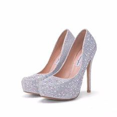 Discounted Platform Bridals Shoes Pearl High Heels Pumps White Wedding Shoes Women Bridal Stilettoes S*xy Heels Intl