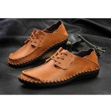 Low Price Plus Size 38 46 New Males Casual Driving Men Shoes Fashion Crocodile Genuine Leather Men S Loafers Brown