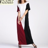 Discount Plus Size Zanzea Women Summer Pockets Beach Vestido Sundress Ladies Party Casual O Neck Short Sleeve Maxi Long Dress Kaftan Color2 Intl Zanzea China