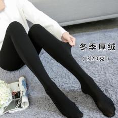 Who Sells The Cheapest Plus Velvet Women Outerwear Thermal Socks Flesh Colored Leggings Black Even Foot 320G Winter Thick Velvet Online