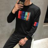 Recent Plus Velvet Warm On The Student Base Small Shirt Thick Long Sleeved T Shirt 835 Black Regular Version